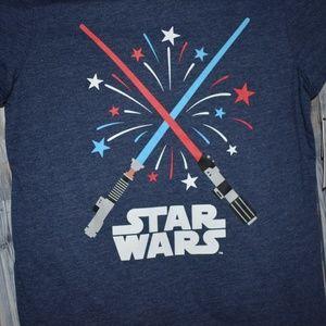 Star Wars Red White Blue Fireworks Tee Girls M